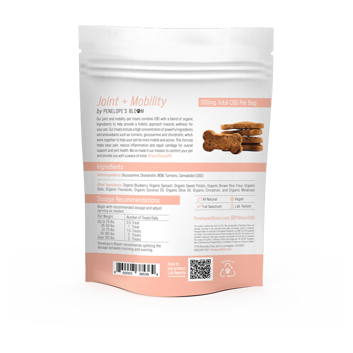 CBD Dog Treats for Joint Pain + Mobility - Back